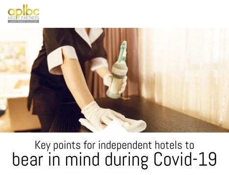 Key points for independent hotels to bear in mind during Covid-19